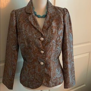 Victor Costa Beaded Jacket - Size 8